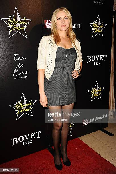 Actress Laura Prepon attends the 5th annual Hollywood Domino Gala benefiting Artists For Peace And Justice at Sunset Tower on February 23 2012 in...