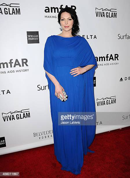 Actress Laura Prepon attends the amfAR Inspiration Gala at Milk Studios on December 12 2013 in Hollywood California
