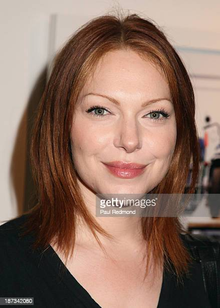Actress Laura Prepon attends the artists reception for LA Odyssey Debut Show Conceptions by artist trio Flores Gil Mann at Bruce Lurie Gallery on...