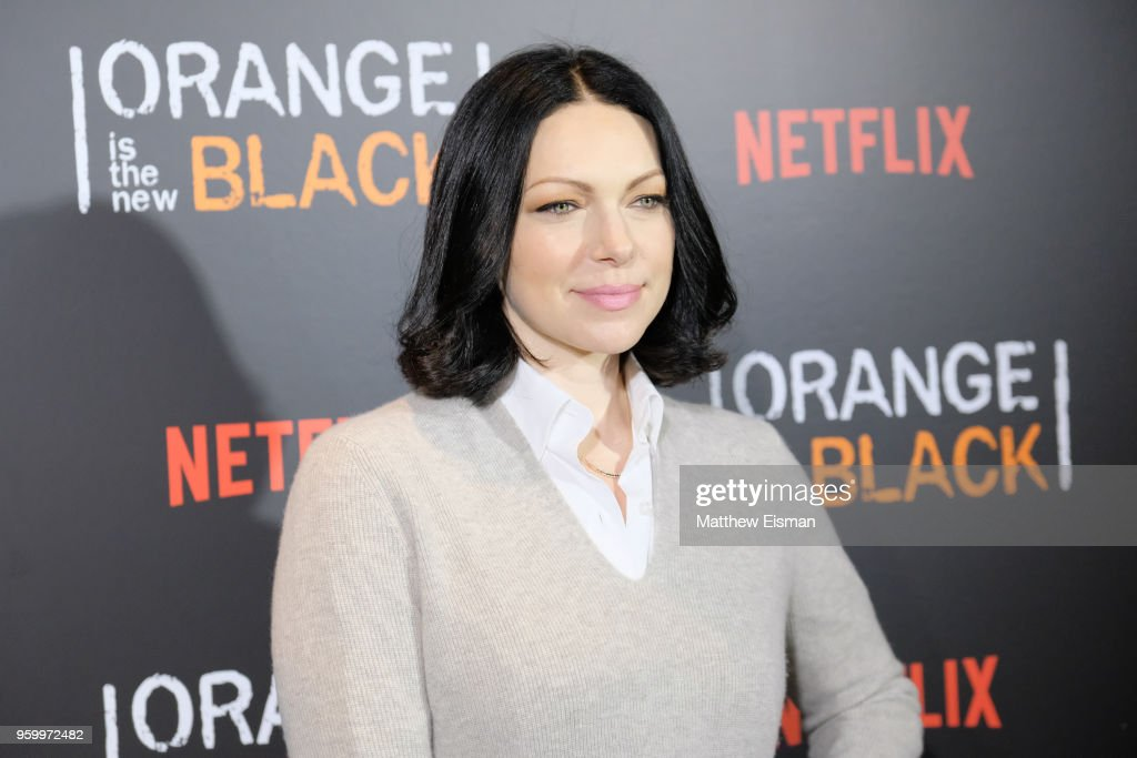 Actress Laura Prepon attends the 'Orange Is The New Black' EMMY FYC red carpet at Crosby Street Hotel on May 18, 2018 in New York City.