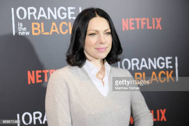 "Actress Laura Prepon attends the ""Orange Is The New Black"" EMMY FYC red carpet at Crosby Street Hotel on May 18, 2018 in New York City."
