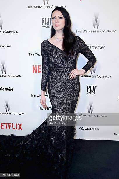 Actress Laura Prepon attends The Weinstein Company Netflix's 2015 Golden Globes After Party presented by FIJI Water Lexus Laura Mercier and Marie...