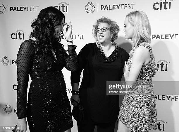 Actress Laura Prepon Executive producer and creator Jenji Kohan and actress Taylor Schilling arrives at The Paley Center For Media's PaleyFest 2014...