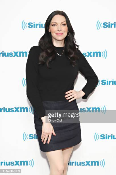 Actress Laura Prepon visits the SiriusXM studios on July 26 2019 in New York City