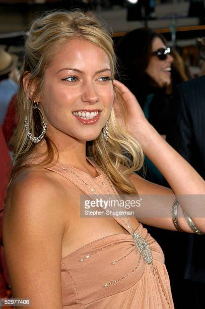 Actress Laura Ramsey arrives at the Premiere of TriStar Pictures Lords Of Dogtown at the Mann's Chinese Theater on May 24 2005 in Hollywood California