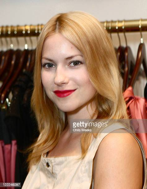 Actress Laura Ramsey attends the Foley Corinna Melrose Avenue Event With Poshglamcom at Foley Corinna on June 9 2010 in Los Angeles California