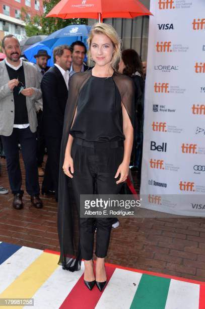 Actress Laura Ramsey attends the You Are Here premiere at Ryerson Theatre during 2013 Toronto International Film Festival on September 7 2013 in...