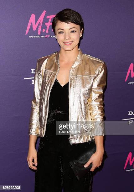 Actress Laura Roman attends the premiere of Dark Sky Films' 'MFA' at The London West Hollywood on October 2 2017 in West Hollywood California