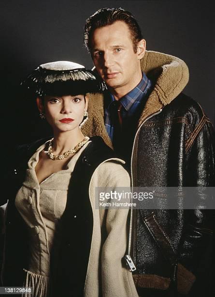 Actress Laura San Giacomo and actor Liam Neeson star in the thriller 'Under Suspicion' 1991