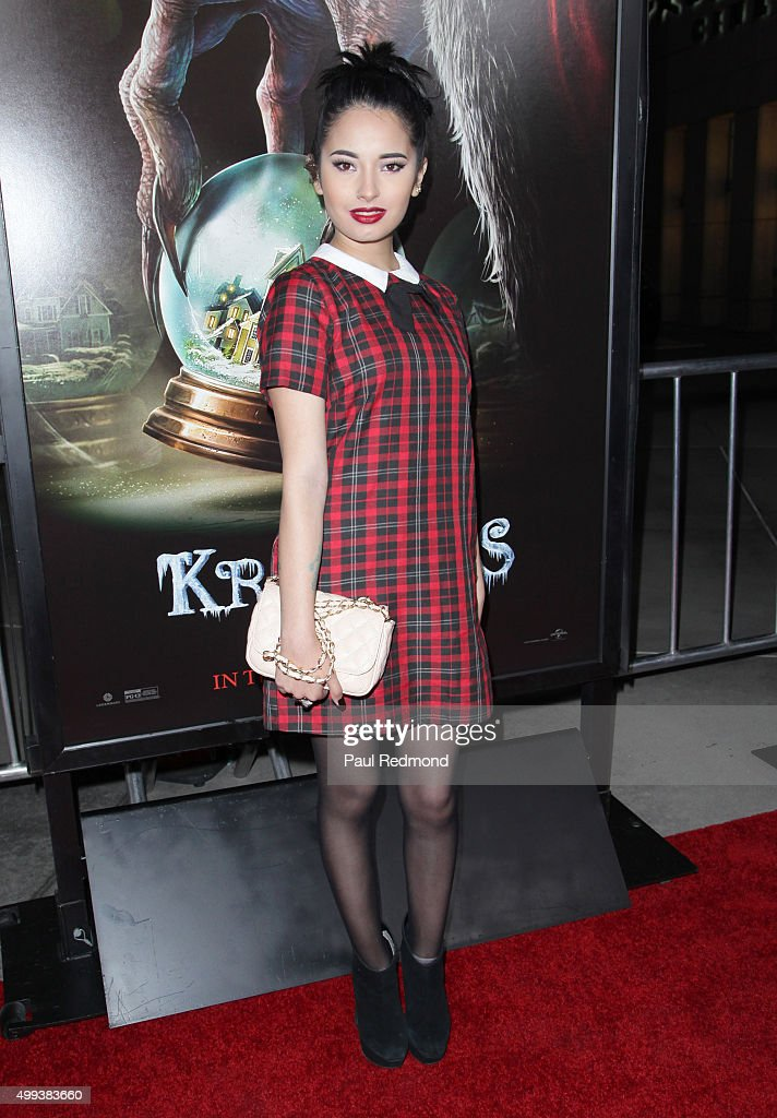 Actress Laura Sanchez arrives at the screening of Universal Pictures' 'Krampus' at ArcLight Cinemas on November 30, 2015 in Hollywood, California.