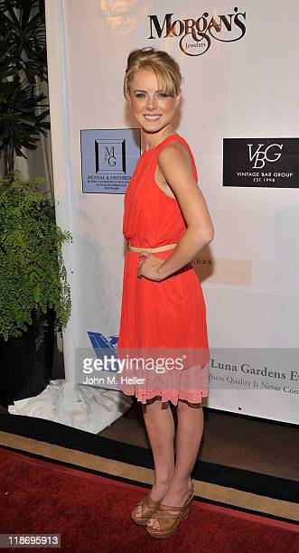 Actress Laura Slade Wiggins arrives at the 2nd Annual Face Forward Gala For A New Beginning at the Intercontinental Hotel on July 9 2011 in Los...