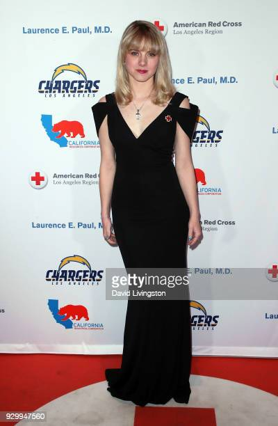 Actress Laura Slade Wiggins attends the American Red Cross Annual Humanitarian Celebration to honor the Los Angeles Chargers at Skirball Cultural...