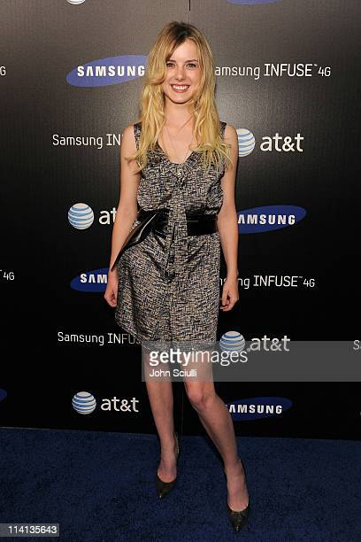 Actress Laura Slade Wiggins attends the Samsung Infuse 4G For ATT Launch Event Featuring Nicki Minaj held at Milk Studios on May 12 2011 in Hollywood...