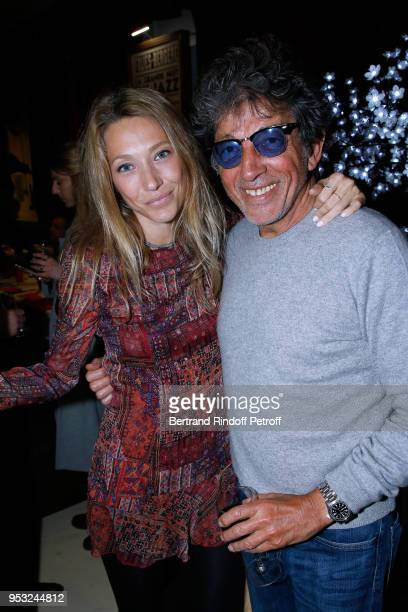 Actress Laura Smet and photographer Tony Frank attend the Dinner in honor of Nathalie Baye at La Chope des Puces on April 30 2018 in SaintOuen France