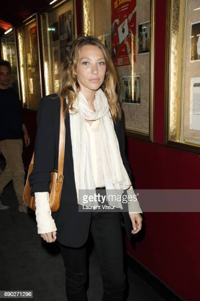 Actress Laura Smet attends 'Ca Coule de Source ' Theater Play at Theatre de la Gaite Montparnasse on May 30 2017 in Paris France