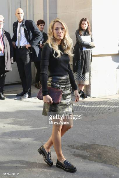 Actress Laura Smet attends the Chanel show as part of the Paris Fashion Week Womenswear Spring/Summer 2018 on October 3 2017 in Paris France