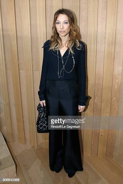 Actress Laura Smet attends the Chanel Spring Summer 2016 show as part of Paris Fashion Week on January 26 2016 in Paris France