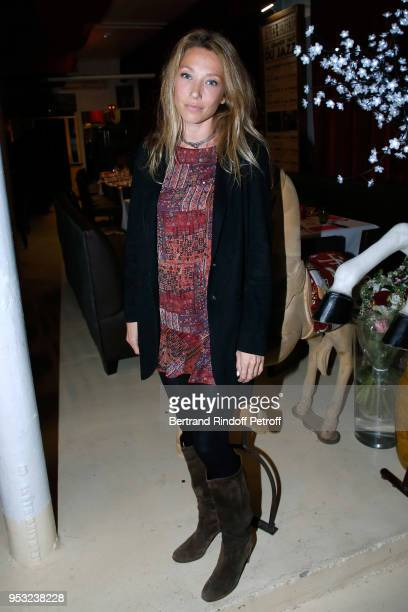 Actress Laura Smet attends the Dinner in honor of her mother Nathalie Baye at La Chope des Puces on April 30 2018 in SaintOuen France