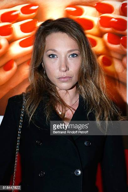 Actress Laura Smet attends the 'Guy Bourdin Portraits' Exhibition Opening and Cocktail at Studio des Acacias on March 31 2016 in Paris France