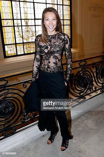 Actress Laura Smet attends the Jean Paul Gaultier show as part of Paris Fashion Week Haute Couture Fall/Winter 2015/2016 on July 8 2015 in Paris...
