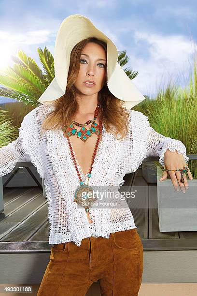 Actress Laura Smet is photographed for Self Assignment on July 26, 2015 in Saint-Tropez, France. .