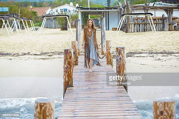 Actress Laura Smet is photographed for Self Assignment on July 26 2015 in SaintTropez France