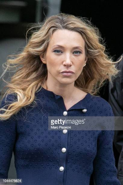 Actress Laura Smet is seen leaving the Chanel fashion show on October 2 2018 in Paris France