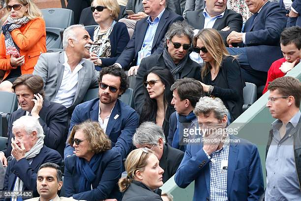 Actress Laura Smet journalist Marie Drucker and Gilles Pelisson attend Day Fifteen Men single's Final of the 2016 French Tennis Open at Roland Garros...