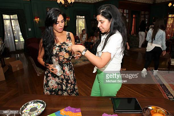 Actress Laura Soares and Reset Yourself founder Firouze Zeroual attend Posing Heroes A Dog Day Afternoon Benefiting A Wish For Animals on March 30...
