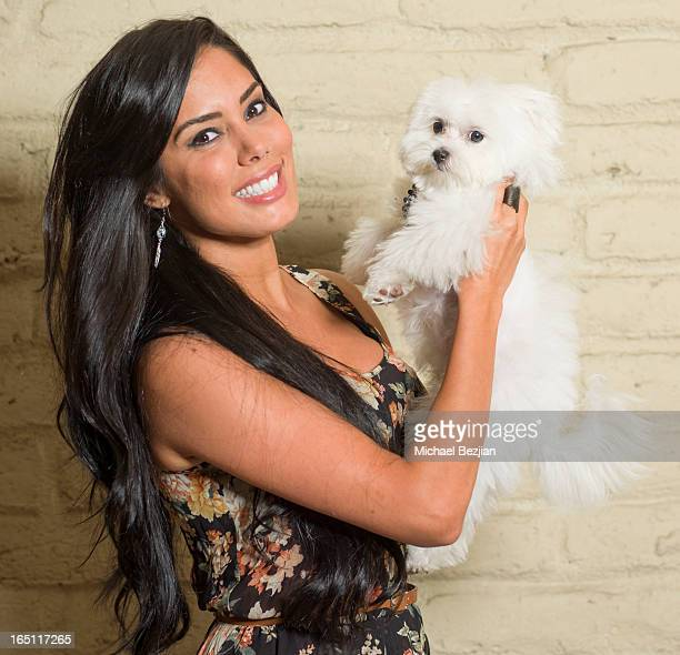 Actress Laura Soares attends Posing Heroes A Dog Day Afternoon Benefiting A Wish For Animals on March 30 2013 in Los Angeles California