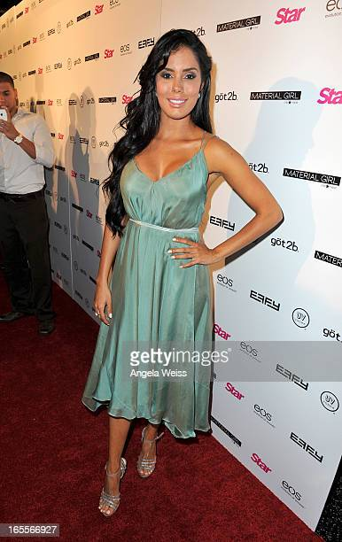 Actress Laura Soares attends Star Magazine's Hollywood Rocks event held at Playhouse Hollywood on April 4 2013 in Los Angeles California
