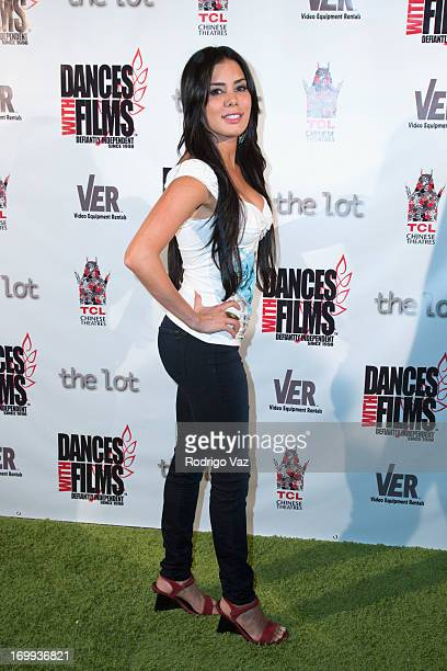Actress Laura Soares attends the Dances With Film Festival Broken Glass Premiere at TCL Chinese Theatre on June 4 2013 in Hollywood California
