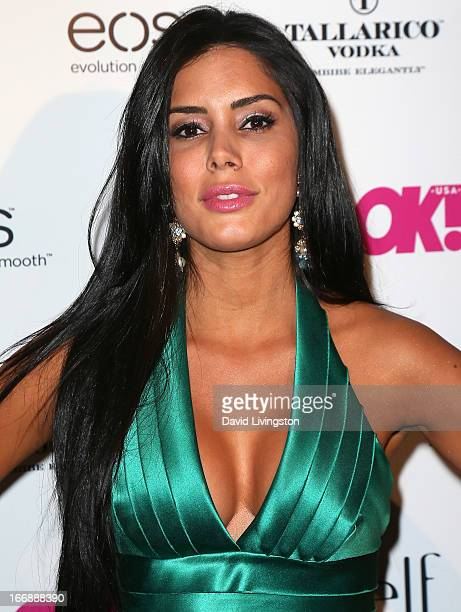 Actress Laura Soares attends the OK Magazine So Sexy LA party at SkyBar at the Mondrian Los Angeles on April 17 2013 in West Hollywood California