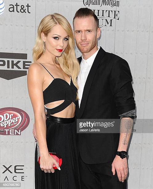 Actress Laura Vandervoort and Oliver Trevena attend Spike TV's 'Guys Choice' Awards at Sony Studios on June 7 2014 in Los Angeles California