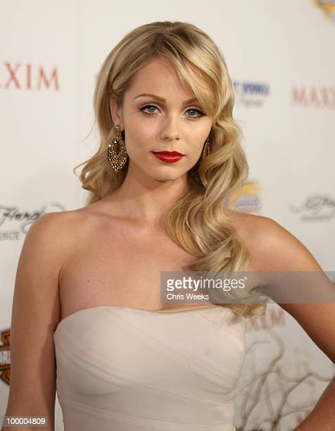 Actress Laura Vandervoort arrives at the 11th annual Maxim Hot 100 Party with HarleyDavidson ABSOLUT VODKA Ed Hardy Fragrances and ROGAINE held at...