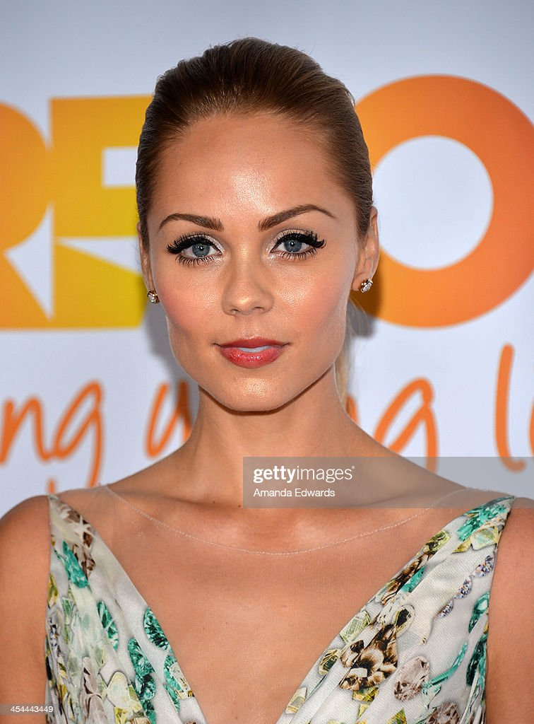 Actress Laura Vandervoort arrives at the TrevorLIVE Los Angeles Benefit celebrating The Trevor Project's 15th anniversary at the Hollywood Palladium on December 8, 2013 in Hollywood, California.