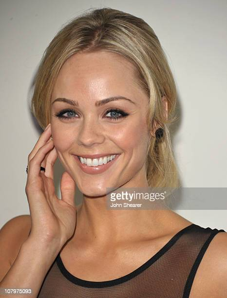 Actress Laura Vandervoort arrives to the Disney ABC Television Group Winter Press Tour at the Langham Hotel on January 10 2011 in Pasadena California