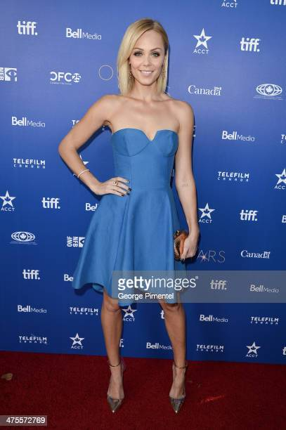 Actress Laura Vandervoort attends Canada's Stars Of the Awards Season presented by TeleFilm on February 27 2014 in Los Angeles California