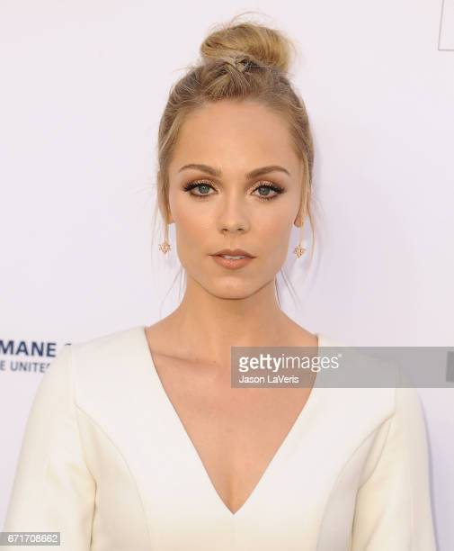 Actress Laura Vandervoort attends Humane Society of The United States' annual To The Rescue Los Angeles benefit at Paramount Studios on April 22 2017...
