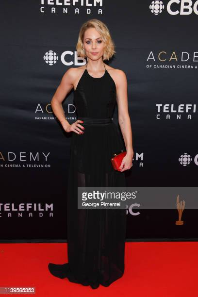 Actress Laura Vandervoort attends the 2019 Canadian Screen Awards Broadcast Gala at Sony Centre for the Performing Arts on March 31 2019 in Toronto...