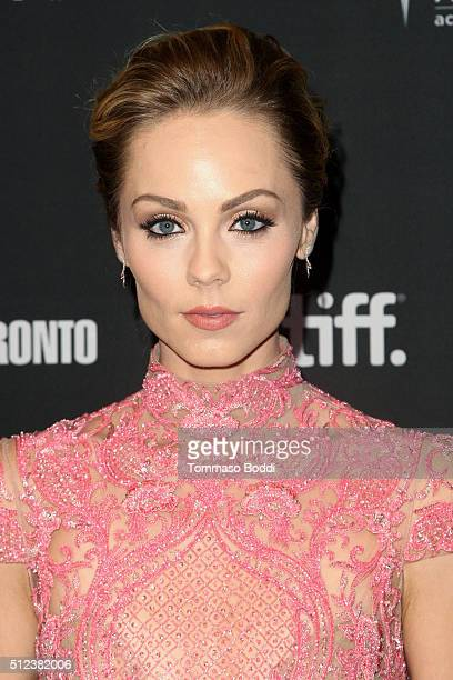 Actress Laura Vandervoort attends the 3rd Annual 'An Evening With Canada's Stars' held at the Four Seasons Hotel Los Angeles at Beverly Hills on...