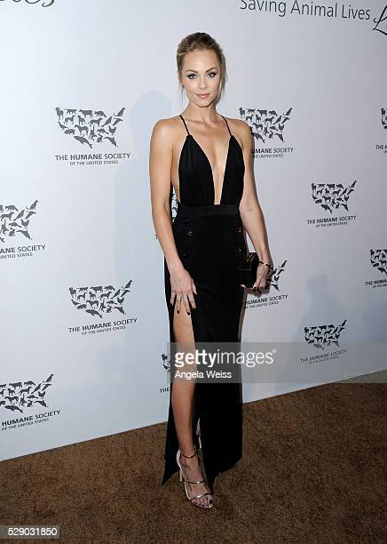Actress Laura Vandervoort attends The Humane Society of the United States' to the Rescue Gala at Paramount Studios on May 7 2016 in Hollywood...