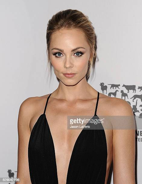 Actress Laura Vandervoort attends The Humane Society of The United States' To The Rescue gala at Paramount Studios on May 07 2016 in Hollywood...
