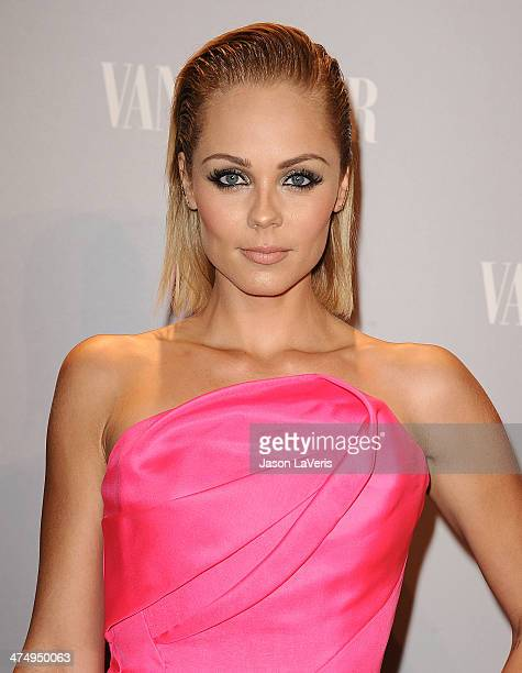 Actress Laura Vandervoort attends the Vanity Fair Campaign Young Hollywood party at No Vacancy on February 25 2014 in Los Angeles California