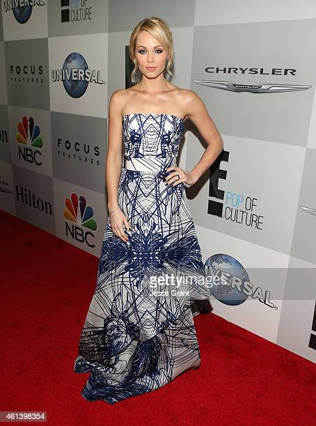 Actress Laura Vandervoort attends Universal NBC Focus Features and E Entertainment 2015 Golden Globe Awards After Party sponsored by Chrysler and...