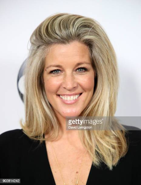 Actress Laura Wright attends Disney ABC Television Group's TCA Winter Press Tour 2018 at The Langham Huntington, Pasadena on January 8, 2018 in...