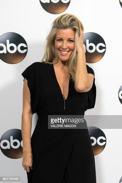 Actress Laura Wright attends the Disney ABC Television TCA Winter Press Tour on January 8 in Pasadena, California. / AFP PHOTO / VALERIE MACON