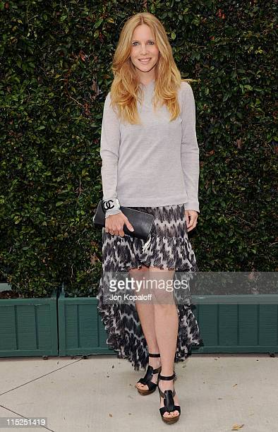 Actress Lauralee Bell arrives at Chanel Hosts Benefit Dinner For The Natural Resources Defense Council's Ocean Initiative at a private residence on...