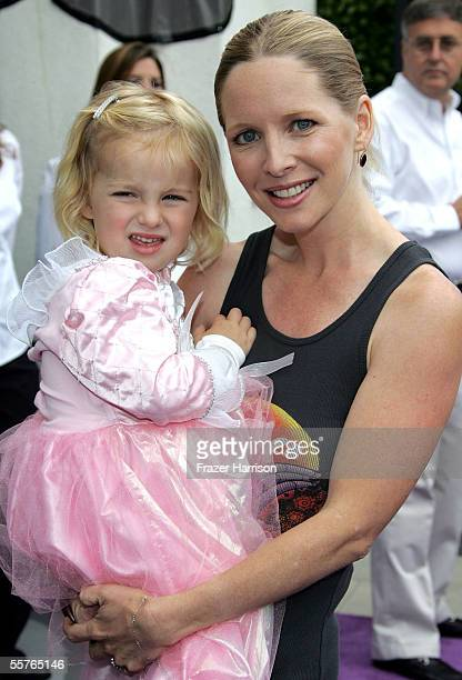 Actress Lauralee Bell poses with her daughter Samantha Lee at the Nickelodeon Presents Fairypalooza Premiere of Rugrats Tales from the Crib Snow...