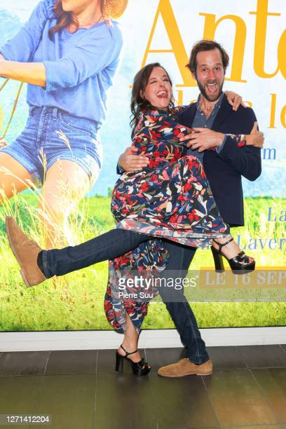 "Actress Laure Calamy and Actor Benjamin Lavernhe attend the ""Antoinette Dans Les Cevennes"" premiere at MK2 Bibliotheque on September 08, 2020 in..."